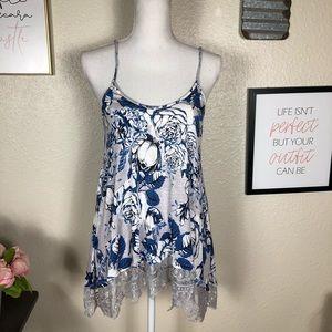 Freshman Floral Blue Camisole